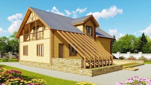 Проекты каркасных домов с мансардой под ключ
