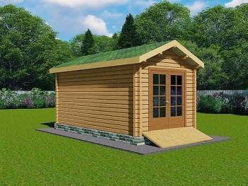 Деревянный гараж G-1