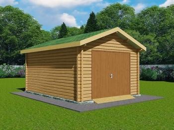 Деревянный гараж G-2
