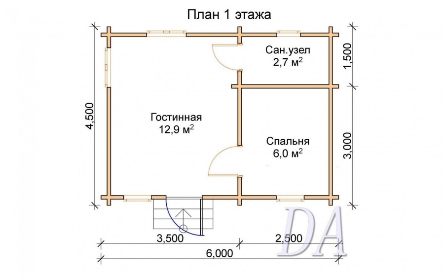 Дачный домик Д-5