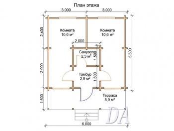Дачный домик Д-17 план