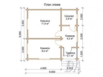 Дачный домик Д-2 проект