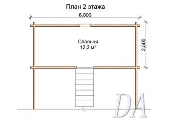 Дачный дом Д-3 план мансардного этажа