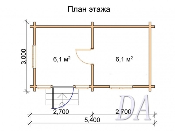 Дачный домик Д-4 проект