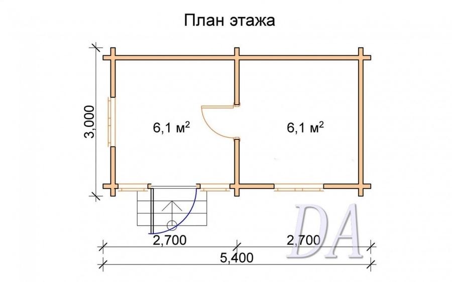 Дачный домик Д-4