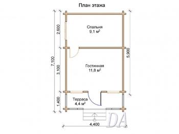 Дачный домик Д-6 проект
