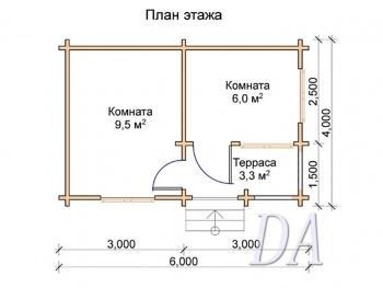 Дачный домик Д-9 проект