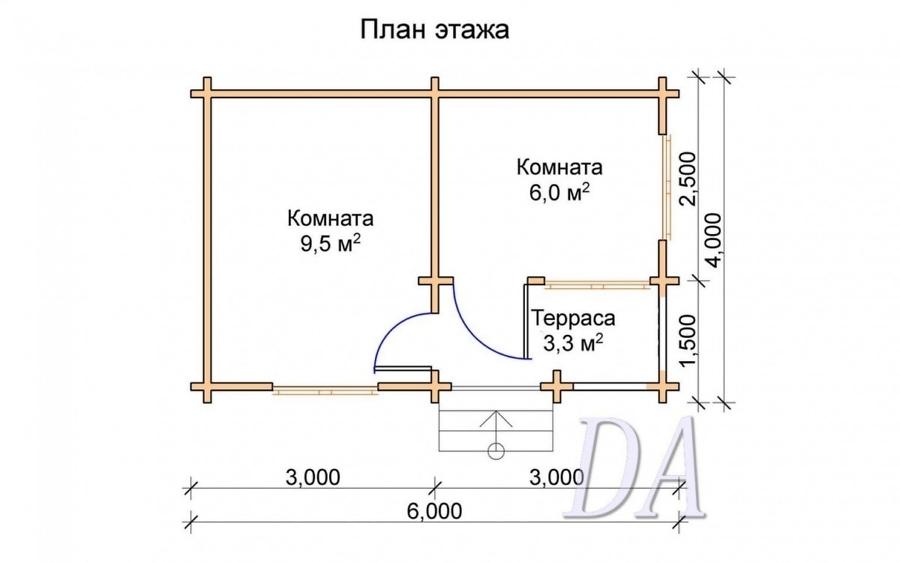 Дачный домик Д-9