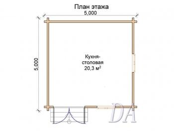 Дачный домик Д-11 проект