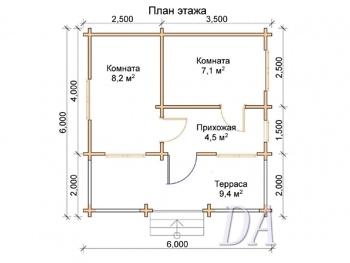 Дачный домик Д-12 проект