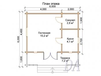 Дачный домик Д-15 план