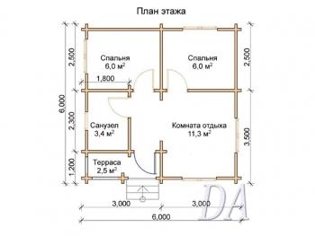 Дачный домик Д-16 план