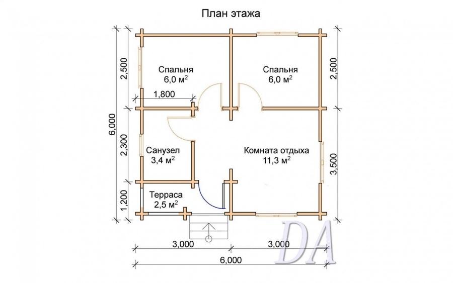 Дачный домик Д-16