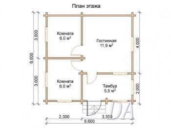 Дачный домик Д-19 план