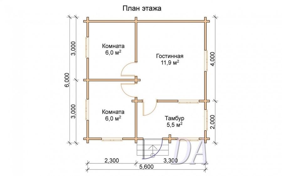 Дачный домик Д-19