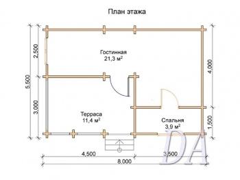 Дачный дом Д-23 план
