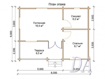 Дачный домик Д-30 план