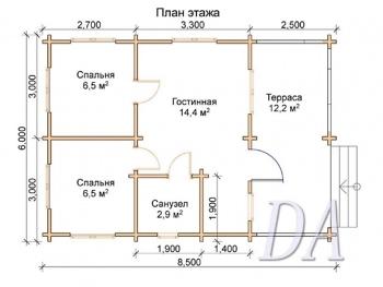 Дачный дом Д-32 план