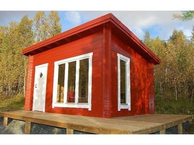 дачный домик с односкатной крышей