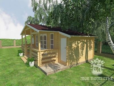 Летние садовые домики из бруса