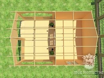 Летний домик из бруса планировка
