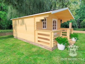 Летний садовый домик из мини-бруса «СПБ-1»