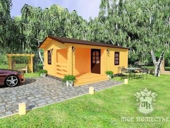 Летний садовый домик из мини-бруса «МСК-3»