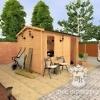 Садовый домик из мини бруса «СПБ-8»