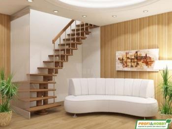 Деревянная лестница на второй этаж К-008м