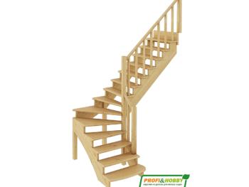 Деревянная лестница на второй этаж К-001м-2