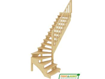 Деревянная лестница на второй этаж К-001м-3