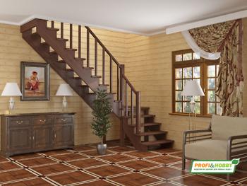 Деревянная лестница на второй этаж К-002м-2