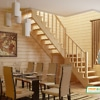 Деревянная лестница на второй этаж К-002м-4