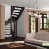 Деревянная лестница на второй этаж К‑003м‑1