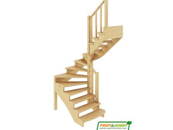 Деревянная лестница на второй этаж К-003м-2