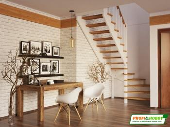 Деревянная лестница на второй этаж К‑003м‑5