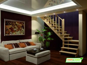 Деревянная лестница на второй этаж К‑031м