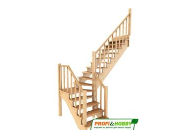 Деревянная лестница на второй этаж К‑032м