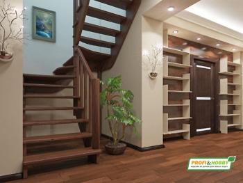 Деревянная лестница на второй этаж К‑033м