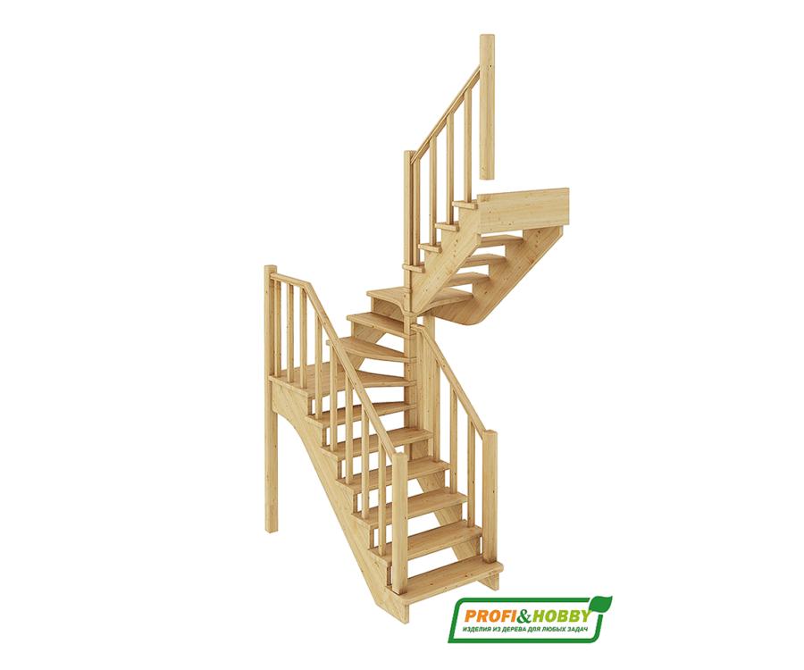 Деревянная лестница на второй этаж К‑034м