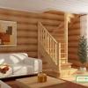 Деревянная лестница на второй этаж ЛС-05м