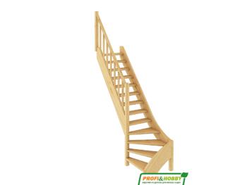 Деревянная лестница на 2-й этаж ЛС-07м-1