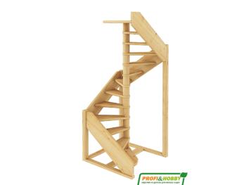 Деревянная лестница на второй этаж ЛС-1.2хм